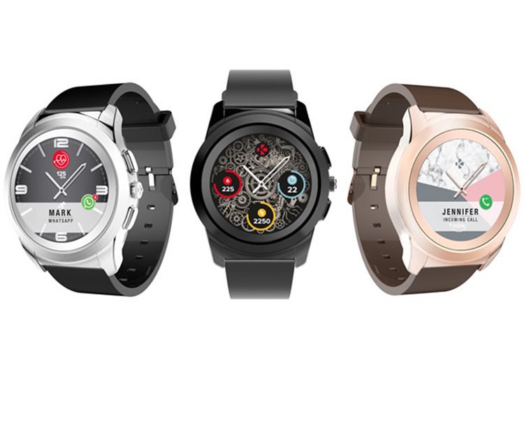 World's first hybrid smartwatch with traditional hands over a full round color touchscreen